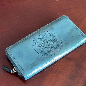 Teal/Aqua Coach Wallet!
